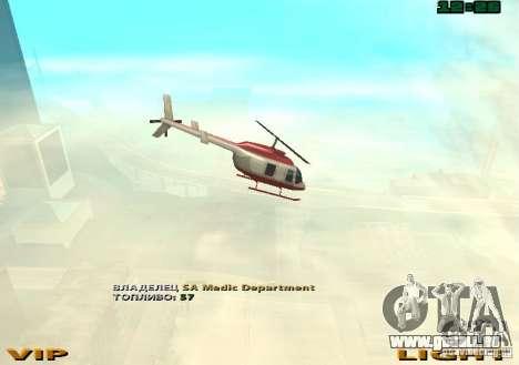 New Maverick pour GTA San Andreas vue arrière