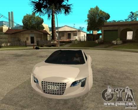 AUDI RSQ concept 2035 für GTA San Andreas Rückansicht