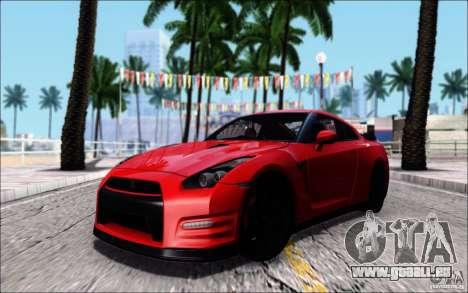 Nissan GTR 2011 Egoist (version avec la saleté) pour GTA San Andreas
