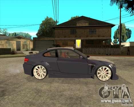 BMW M3 E92 TUNED pour GTA San Andreas vue de droite