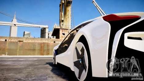 BMW Vision Efficient Dynamics 2012 pour GTA 4 Vue arrière de la gauche