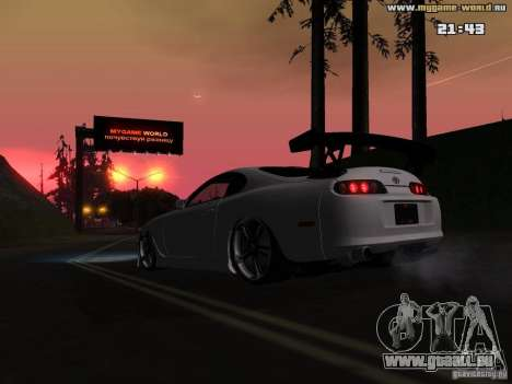 Toyota Supra v2 (MyGame Drift Team) pour GTA San Andreas vue intérieure