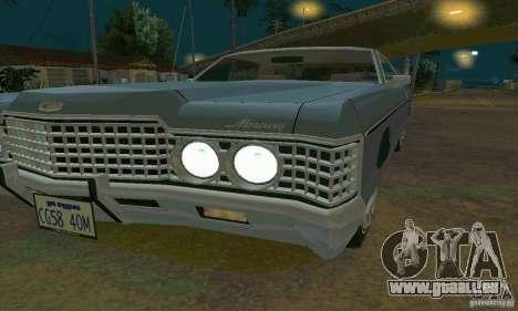 Mercury Monterey 1972 pour GTA San Andreas sur la vue arrière gauche