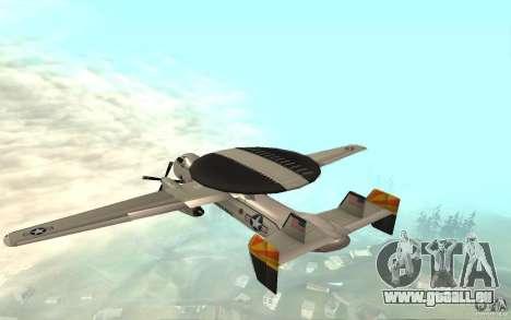 E-C2 Hawkeye pour GTA San Andreas sur la vue arrière gauche