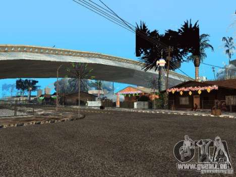 Nouvel an à la rue Grove pour GTA San Andreas troisième écran