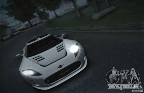 Spyker C8 Aileron pour GTA San Andreas vue arrière