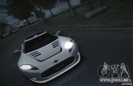 Spyker C8 Aileron für GTA San Andreas Rückansicht
