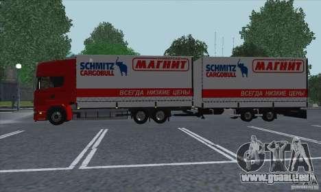 Remorque pour Scania R620 pour GTA San Andreas vue arrière