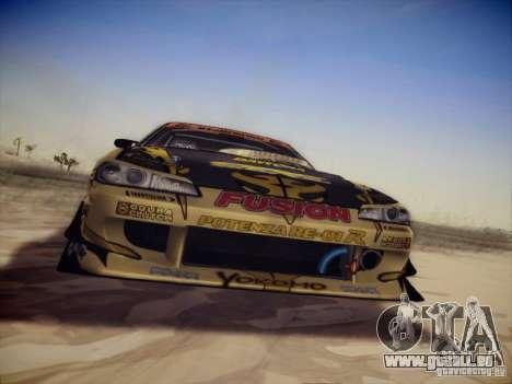 Nissan Silvia S15 Top Secret v2 pour GTA San Andreas laissé vue