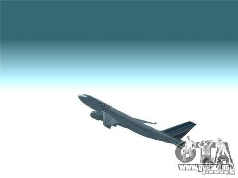 Airbus A330-200 Air France für GTA San Andreas obere Ansicht