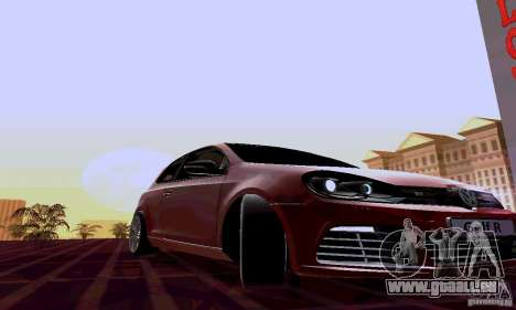 Volkswagen Golf GTI 2011 pour GTA San Andreas vue arrière