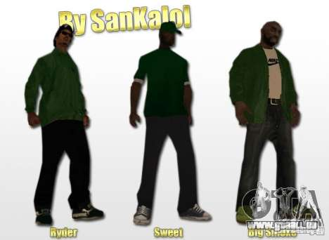 New Sweet, Smoke and Ryder v1.0 pour GTA San Andreas