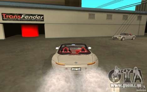 BMW Z8 pour GTA San Andreas laissé vue