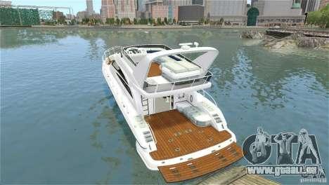 Luxury Yacht pour GTA 4 Vue arrière