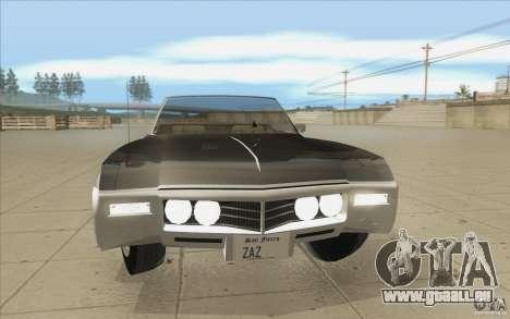Buick Riviera GS 1969 pour GTA San Andreas vue de dessus