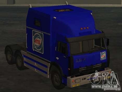 KAMAZ-54112 SECRÉTARIAT pour GTA San Andreas sur la vue arrière gauche