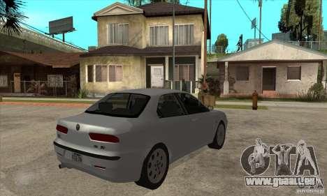 Alfa Romeo 156 2,5V6 2000 pour GTA San Andreas vue de droite
