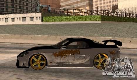 Mazda RX-7 MyGame Drift Team pour GTA San Andreas laissé vue