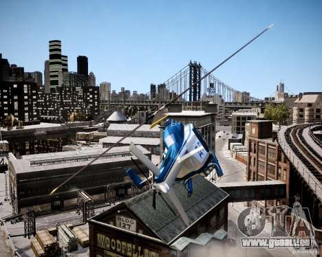 Russian Police Maverick für GTA 4 Rückansicht