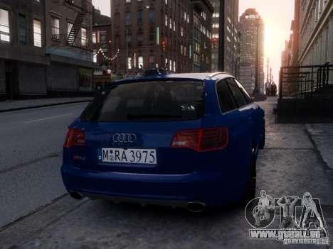 Audi RS6 Avant für GTA 4 Rückansicht