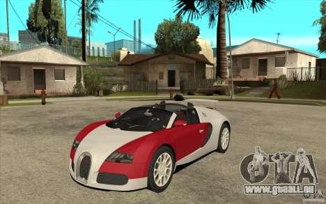 Bugatti Veyron Gran Sport 2011 für GTA San Andreas