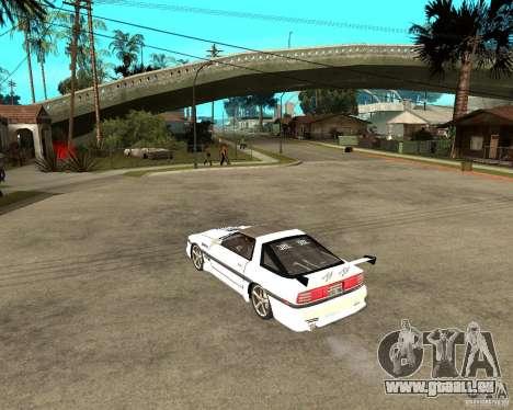 Toyota Supra MK3 Tuning pour GTA San Andreas sur la vue arrière gauche