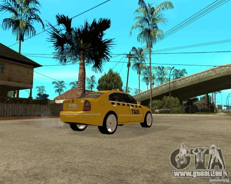 Skoda Superb TAXI cab pour GTA San Andreas vue de droite