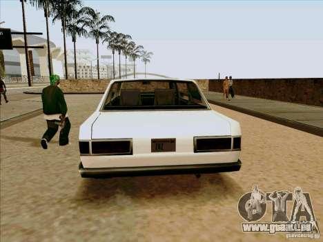 Admiral Limo für GTA San Andreas Rückansicht