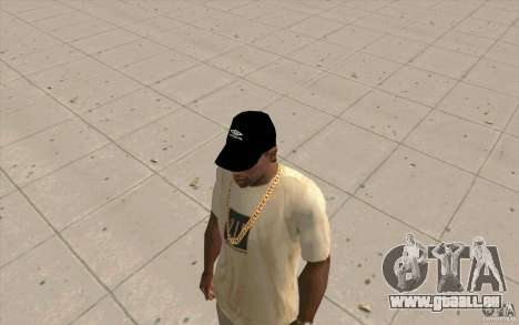 Umbro Cap schwarz für GTA San Andreas
