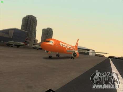 Airbus A320-214 EasyJet 200th Plane für GTA San Andreas Rückansicht