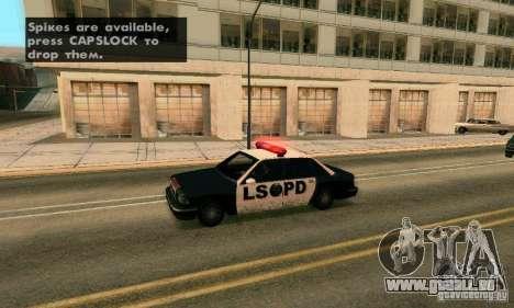 Les crampons sur la route pour GTA San Andreas troisième écran