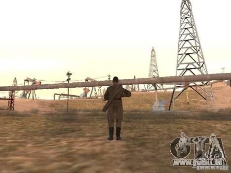 Un soldat soviétique pour GTA San Andreas troisième écran