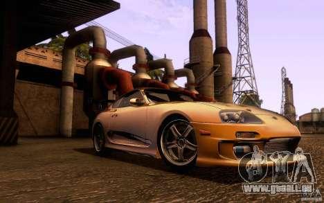 Toyota Supra Top Secret pour GTA San Andreas laissé vue