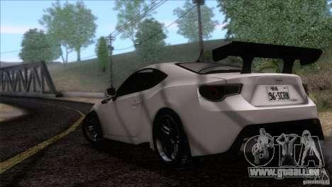 Scion FR-S 2013 pour GTA San Andreas laissé vue