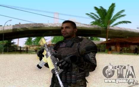 Salazar de CoD : BO2 pour GTA San Andreas quatrième écran