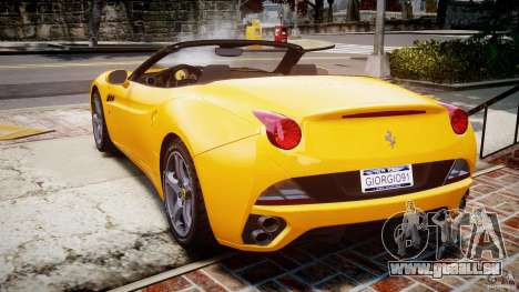 Ferrari California v1.0 pour GTA 4 Vue arrière de la gauche