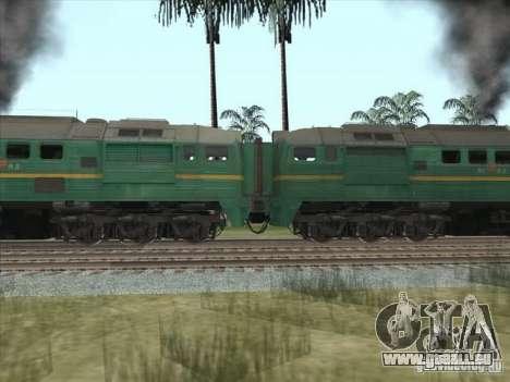 Chemin de fer d'États baltes locomotive fret pho pour GTA San Andreas laissé vue