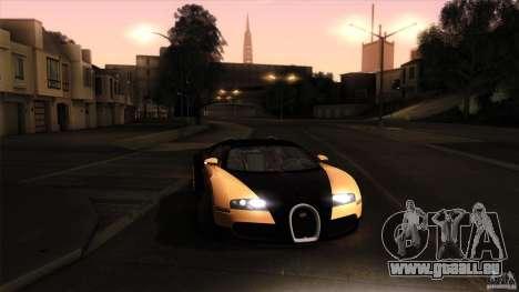 Bugatti Veyron 16.4 für GTA San Andreas Unteransicht
