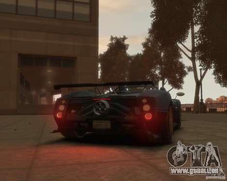 Pagani Zonda Tricolore pour GTA 4 Vue arrière de la gauche