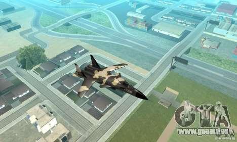 Su-47 « berkut » Cammo pour GTA San Andreas vue arrière