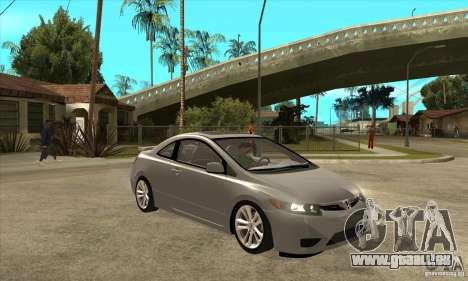 Honda Civic Si - Stock pour GTA San Andreas vue arrière
