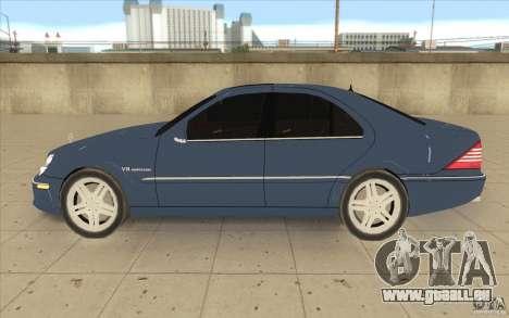 Mercedes-Benz S-Klasse pour GTA San Andreas laissé vue