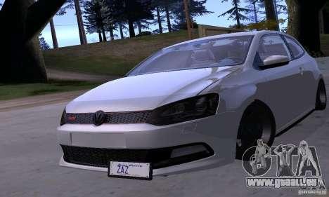 Volkswagen Polo GTI Stanced für GTA San Andreas Seitenansicht