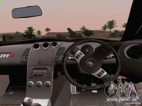Nissan 350Z Nismo S-Tune für GTA San Andreas obere Ansicht