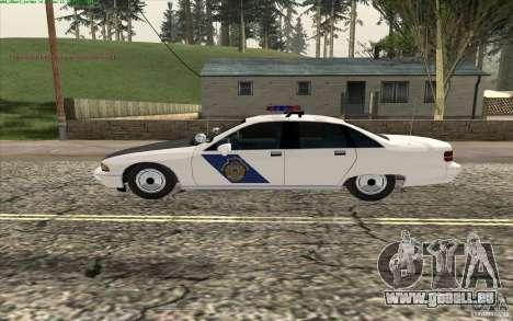 Chevrolet Caprice Police für GTA San Andreas linke Ansicht