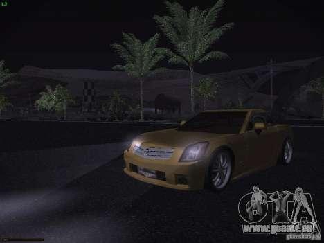 Cadillac XLR 2006 pour GTA San Andreas vue de dessus