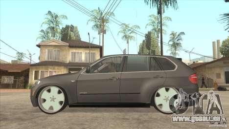 BMW X5 dubstore pour GTA San Andreas laissé vue