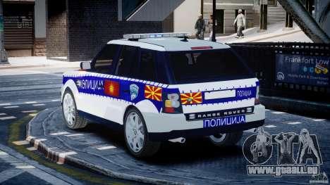 Range Rover Macedonian Police [ELS] für GTA 4 hinten links Ansicht