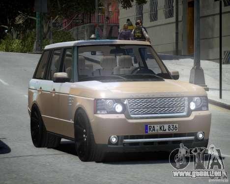 Land Rover SuperSharged pour GTA 4 Vue arrière de la gauche