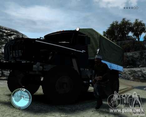 Ural 4320 pour GTA 4 Vue arrière